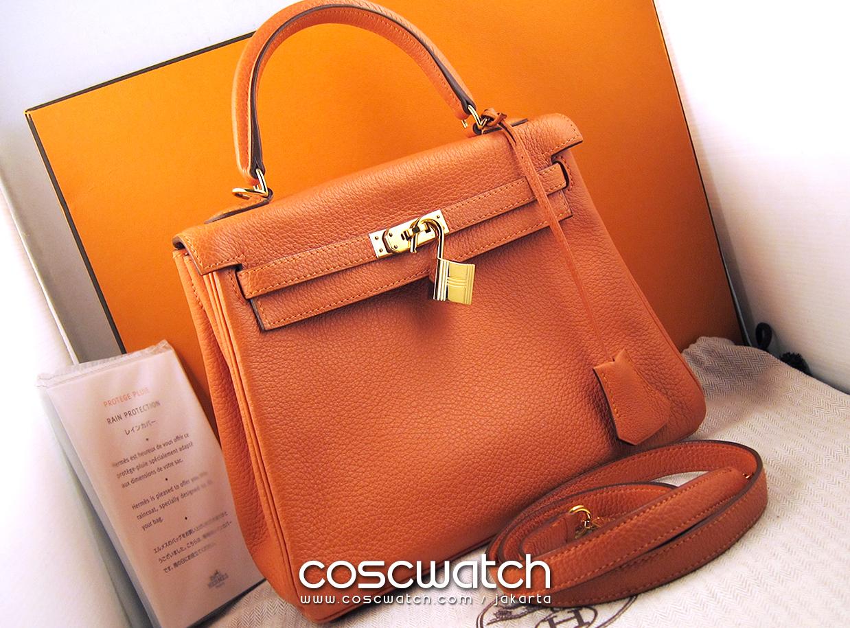 where to buy a birkin bag - N/A) Hermes - Kelly bag 25 Retourne Orange \u0026amp; Gold hardware - Jam ...