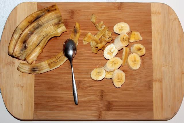 Zerteilte Banane