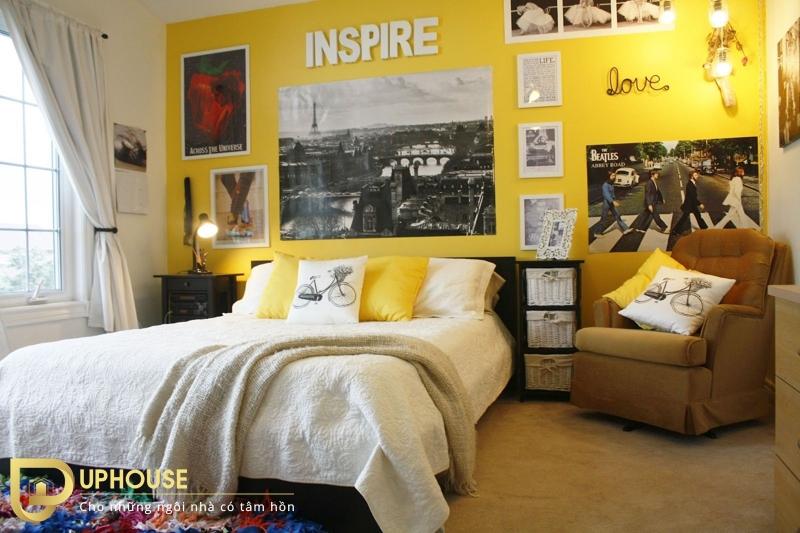 Phòng ngủ màu vàng nhạt 02