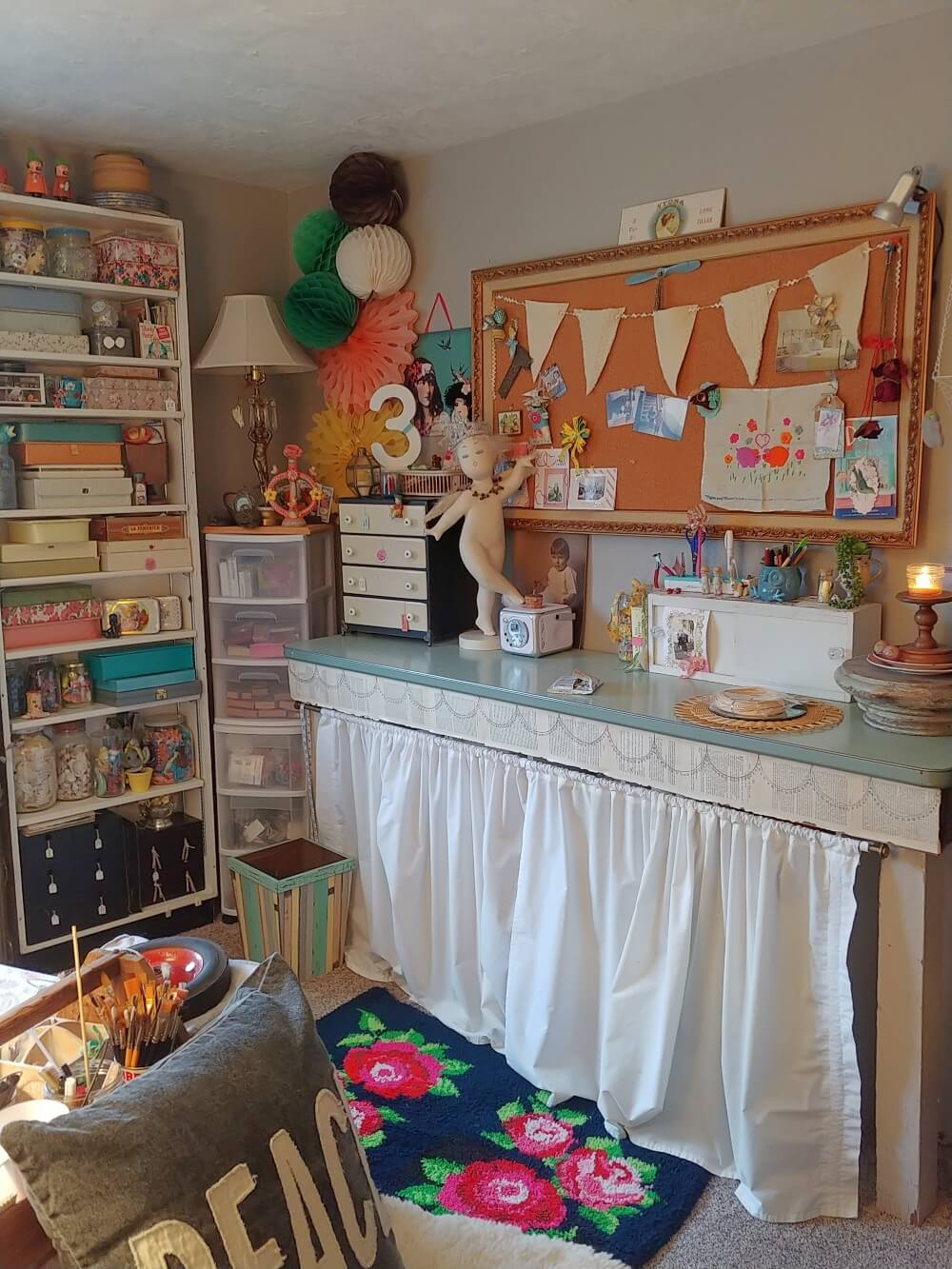 Little Vintage Cottage Craft Studio Makeover