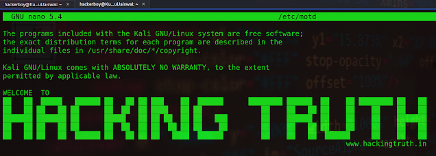 How to display a ASCII message after SSH login on linux