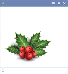 Christmas Holly Emoticon for Facebook