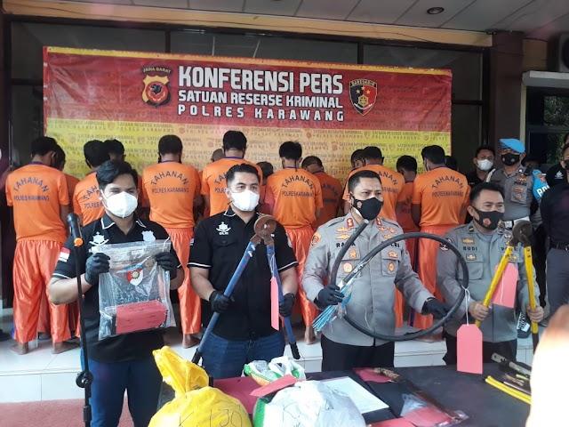 Polres Karawang Ringkus Pelaku Pencurian Di Proyek PLTGU