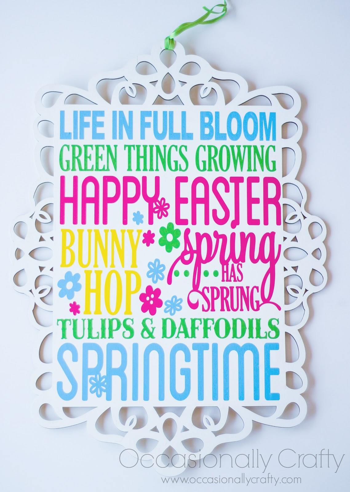 Spring Sign from Occasionally Crafty
