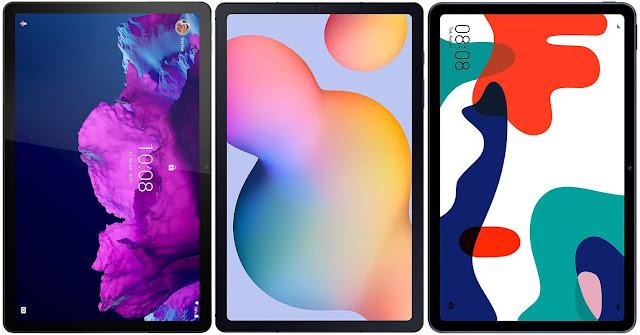 Lenovo Tab P11 vs Samsung Galaxy Tab S6 Lite vs Huawei MatePad 10.4