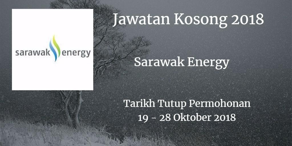 Jawatan Kosong Sarawak Energy 19 - 28 Oktober 2018