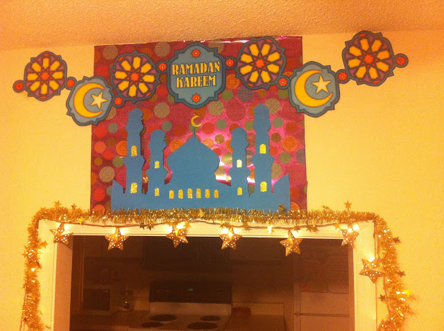 Dekorasi Ramadhan Sederhana Tempelan Kertas