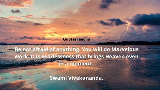 Swami Vivekananda Quotes On Fear