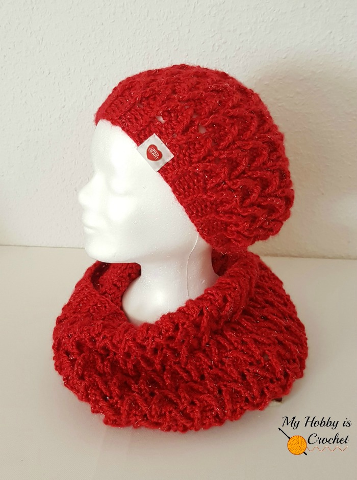 My Hobby Is Crochet Sparkle Ruby Hat Free Crochet Pattern