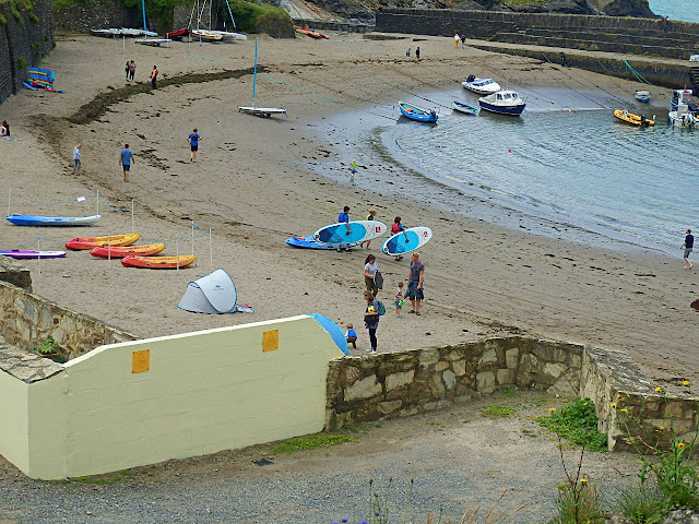 Polkerris harbour and sand, Cornwall