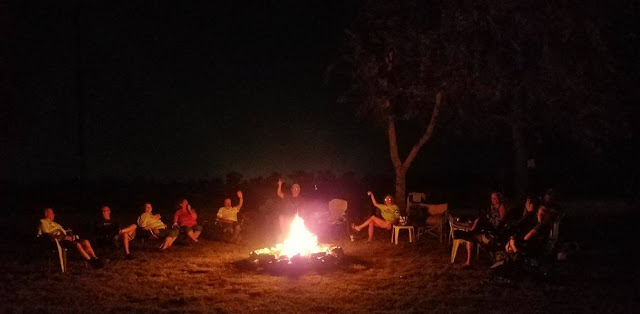 RVers around the campfire making memories