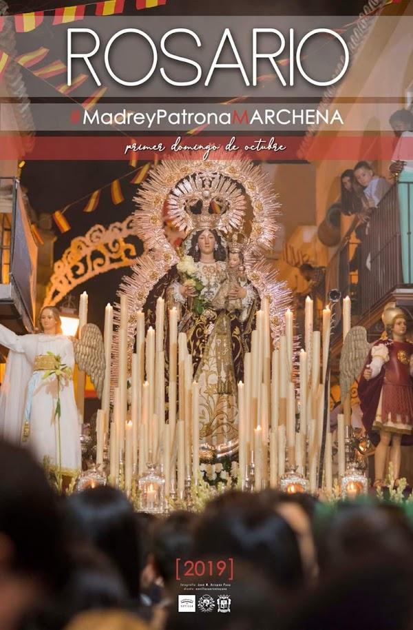Cartel para la procesión 2019 de la Patrona de Marchena,la Virgen del Rosario