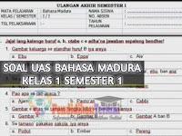 Soal UAS/PAS Bahasa Madura Kelas 1 Semester 1 dan Kunci Jawaban