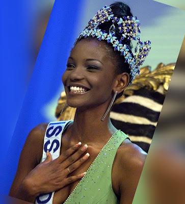 Winner of 2001 Miss World Beauty Pageant