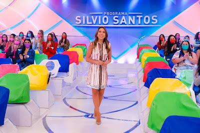 Patrícia Abravanel no Programa Silvio Santos