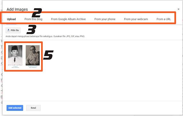cara uploud gambar ke postingan blogger