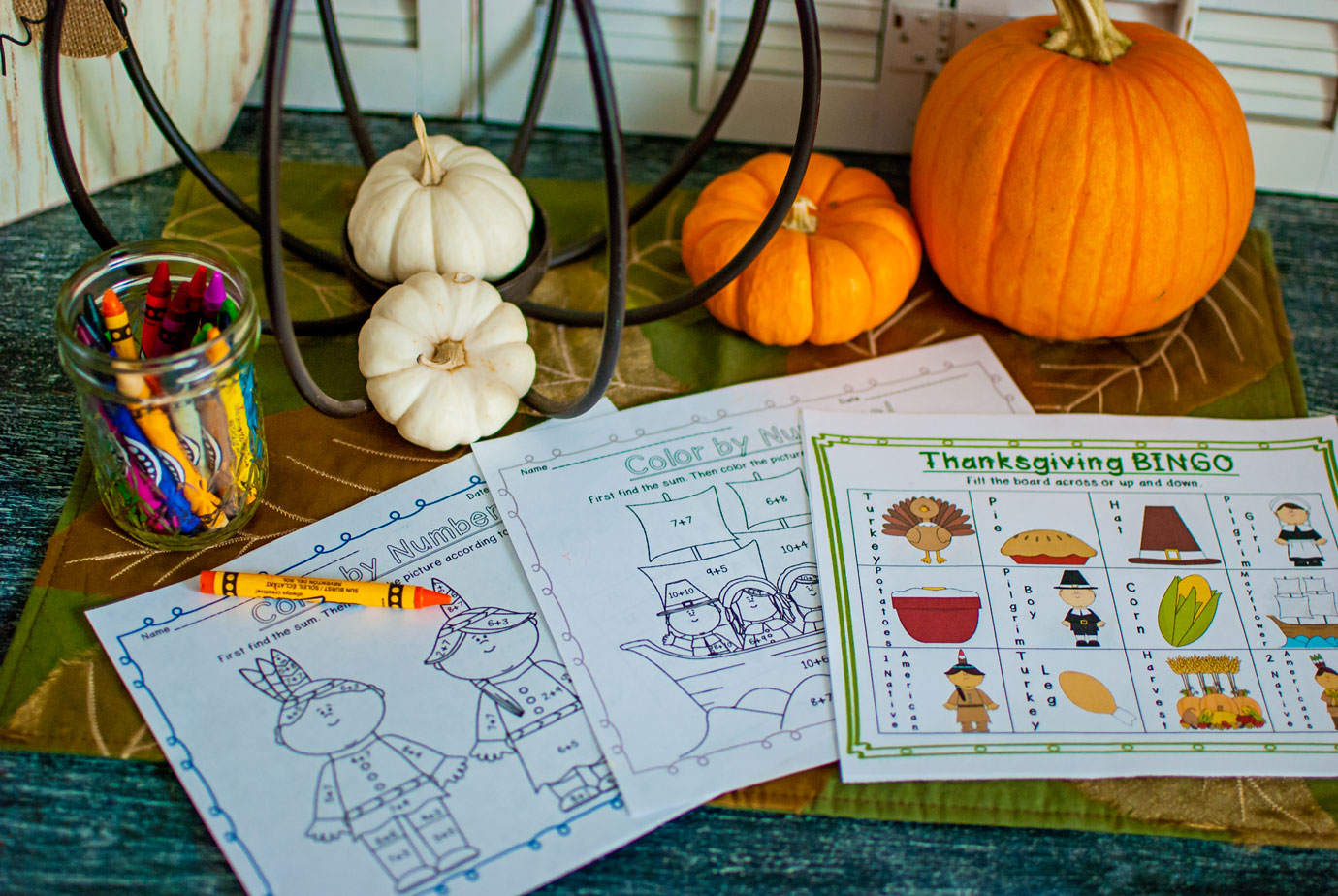 Thanksgiving Printable Educational Worksheets and Games from TeacherSherpa