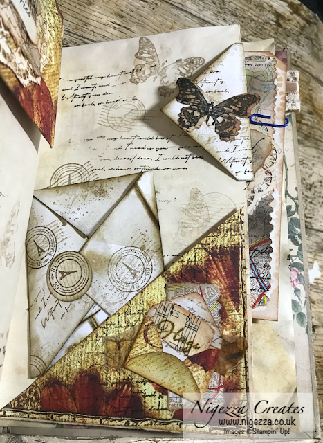 Nigezza Creates My First Junk Journal: Finishing Off Pages #4