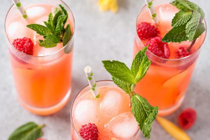 Raspberry Peach Lemonade