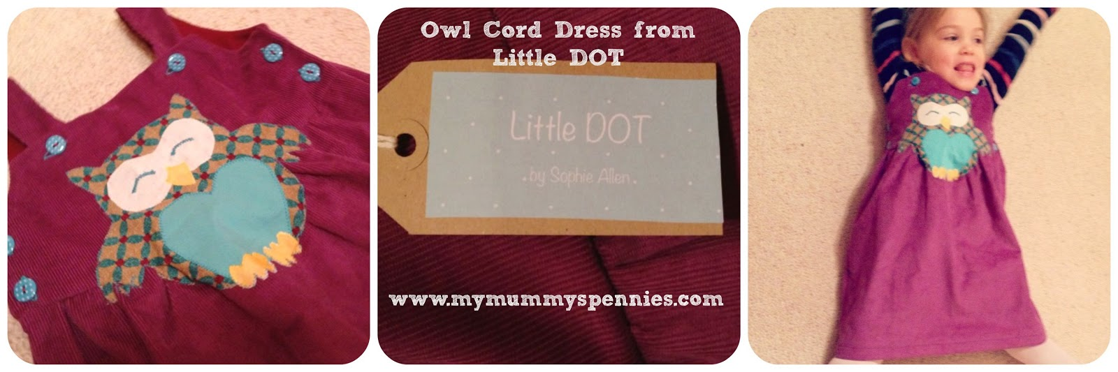 Owl dress from Little Dot www.mymummyspennies.com