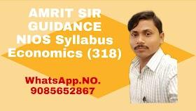NIOS SYLLABUS Subject name:Economics