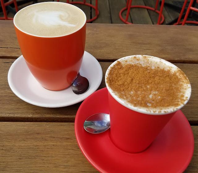 Middle Brighton Baths Cafe, Brighton, lattes