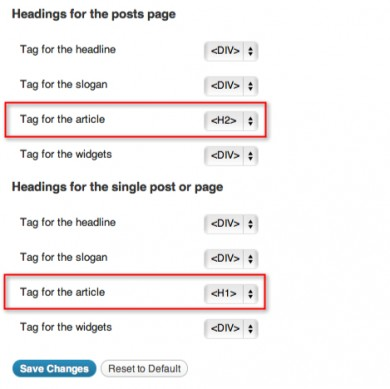 how to change artiseer header tag