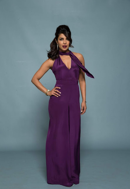 Priyanka Chopra in Mesmerizing Purple Backless Deep neck Gown 20).jpg