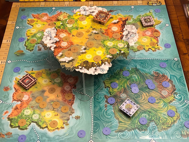 Heroes of Land, air & Sea Board Game Pestilence Expansion Setup; Photo by Benjamin Kocher 2020