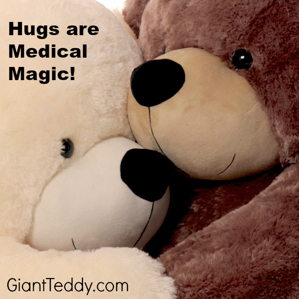 Hugging someone you love creates powerful medical magic