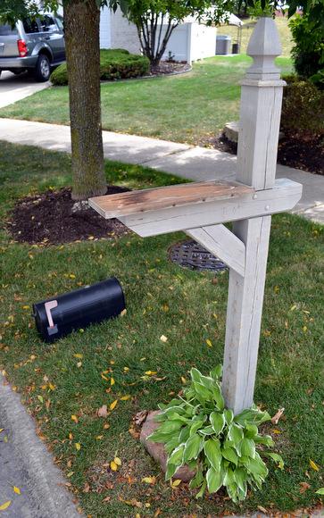 Wooden Mailbox Post