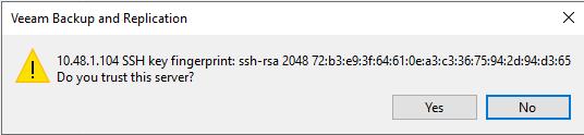 Veeam Backup: Linux backup proxy