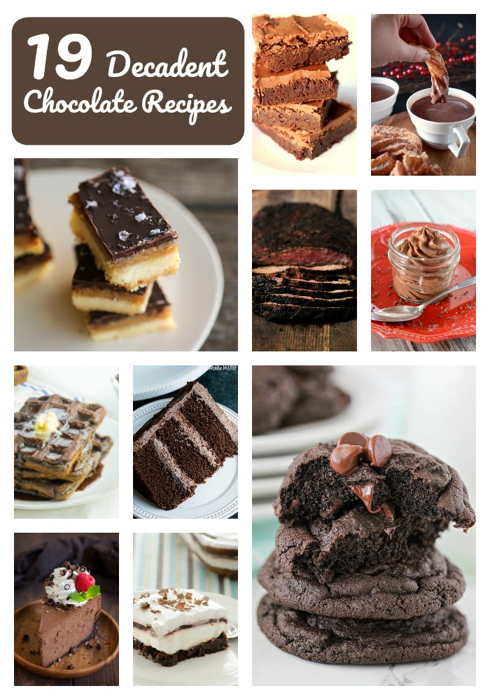19 decadent chocolate recipes, perfect for satisfying your sweet tooth!