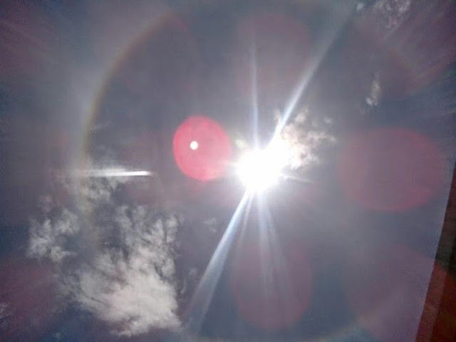 Solar Halo Seen in  Bicol
