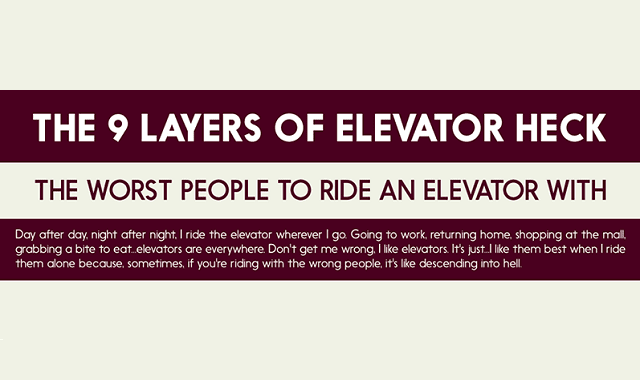 The Worst People to Ride an Elevator With