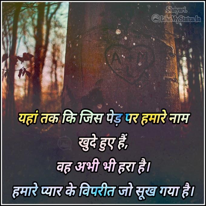 यहां तक कि जिस पेड़ पर | Hindi sad love quote