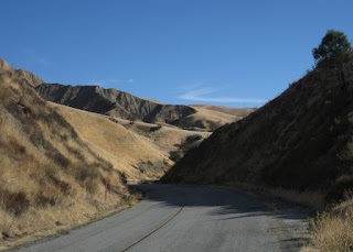 Hillsides in shadow and light, Panoche Road, San Benito County, California