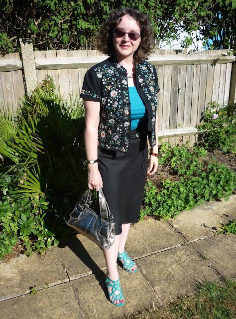 Mandarin Jacket & Black Linen Skirt | PetiteSilverVixen