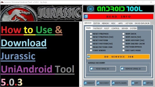Jurassic UniAndroid Tool 5.0.3 Crack Free Download