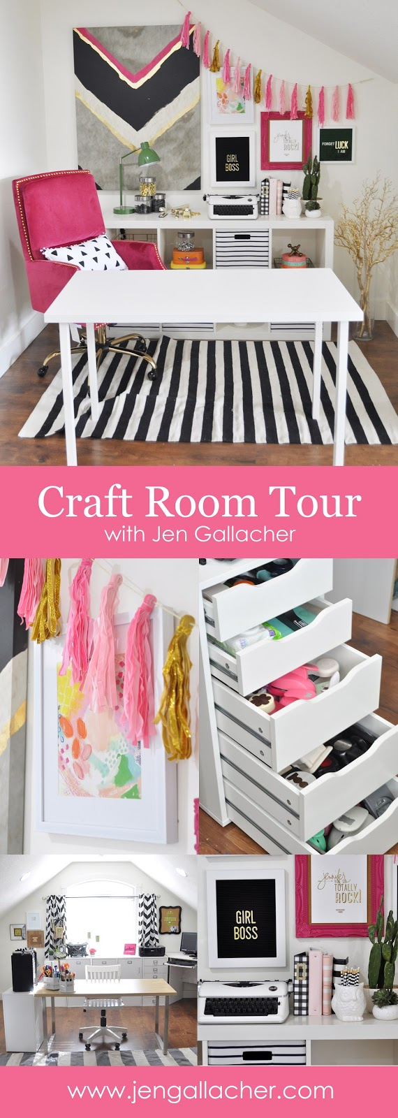 Jen Gallacher Craft Room Tour with Video