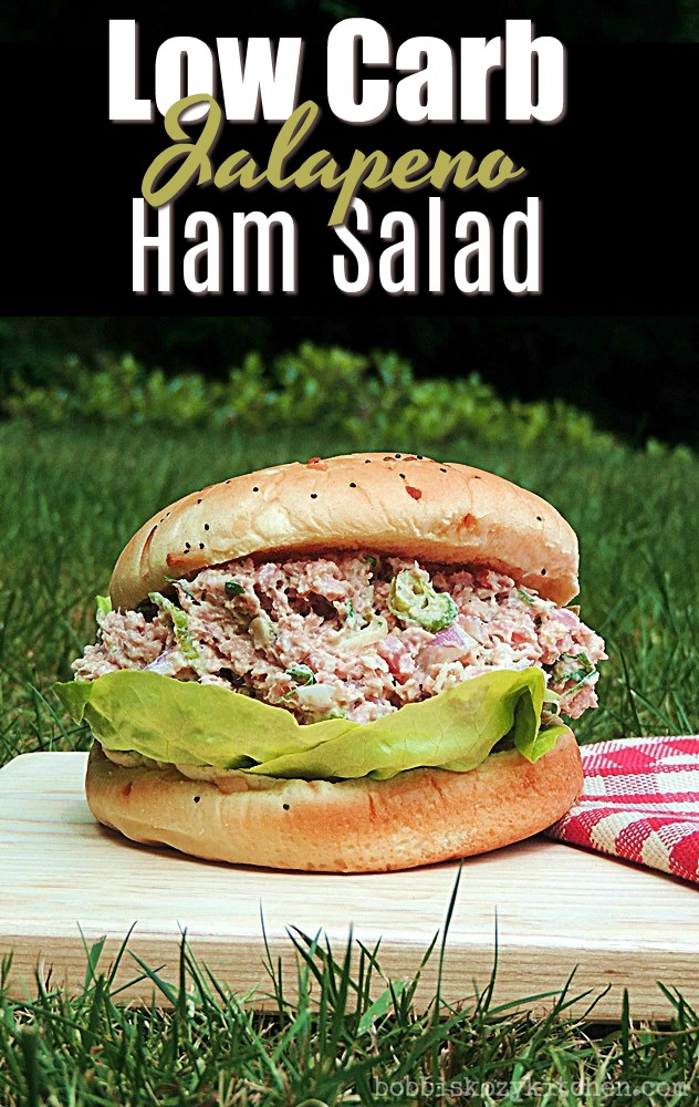"This isn't that old devilish canned ham salad! It is a new and improved ham salad recipe that is zipped up with the spice of jalapeno, low carb, and keto friendly in a lettuce wrap, and guaranteed to make your taste buds sit up and say, ""Holla""! #ham #salad #lowcarb #keto #sandwich #easy #recipe 
