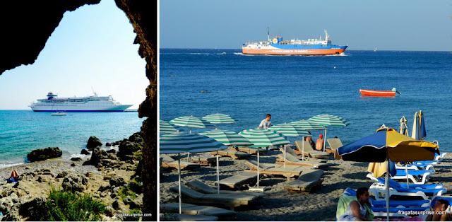 Cruzeiros e ferries na Ilha de Rodes, Grécia