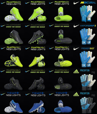 PES 2019 / PES 2018 Nike New lights & Under Radar Pack 2019 by Tisera09