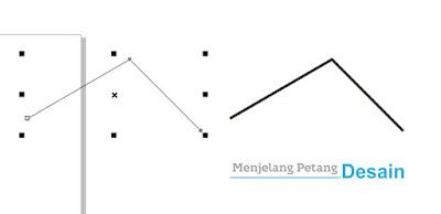 Perbedaan ketebalan garis setelah diberi Outline