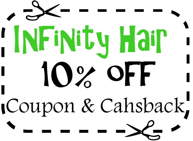 Infinity Hair Solutions Promo Code 10% off InfinityHair.com Cashback 2016: April, May, June, July