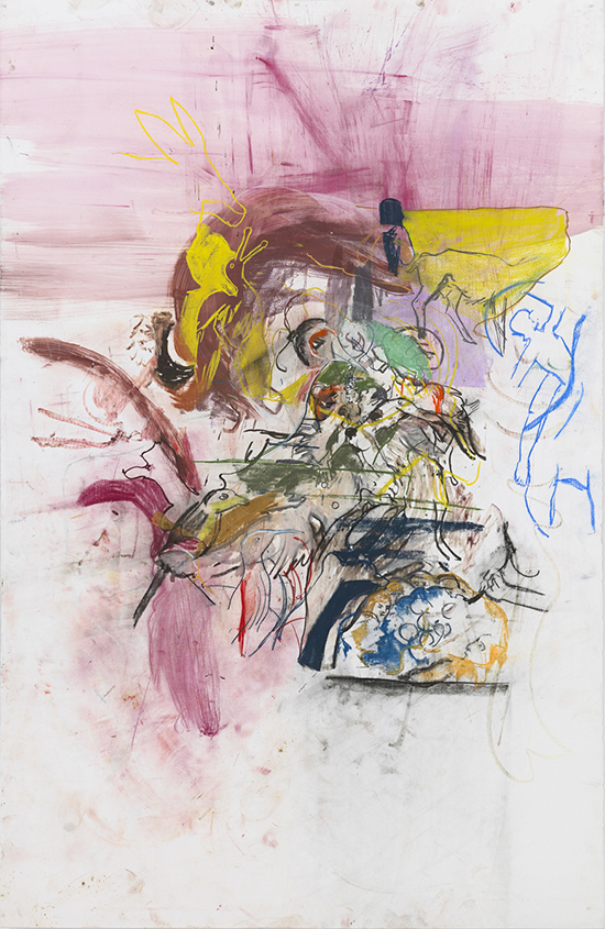 Cecily Brown, contemporary drawing, Untitled (after Bosch and Boldini), Drawing Center