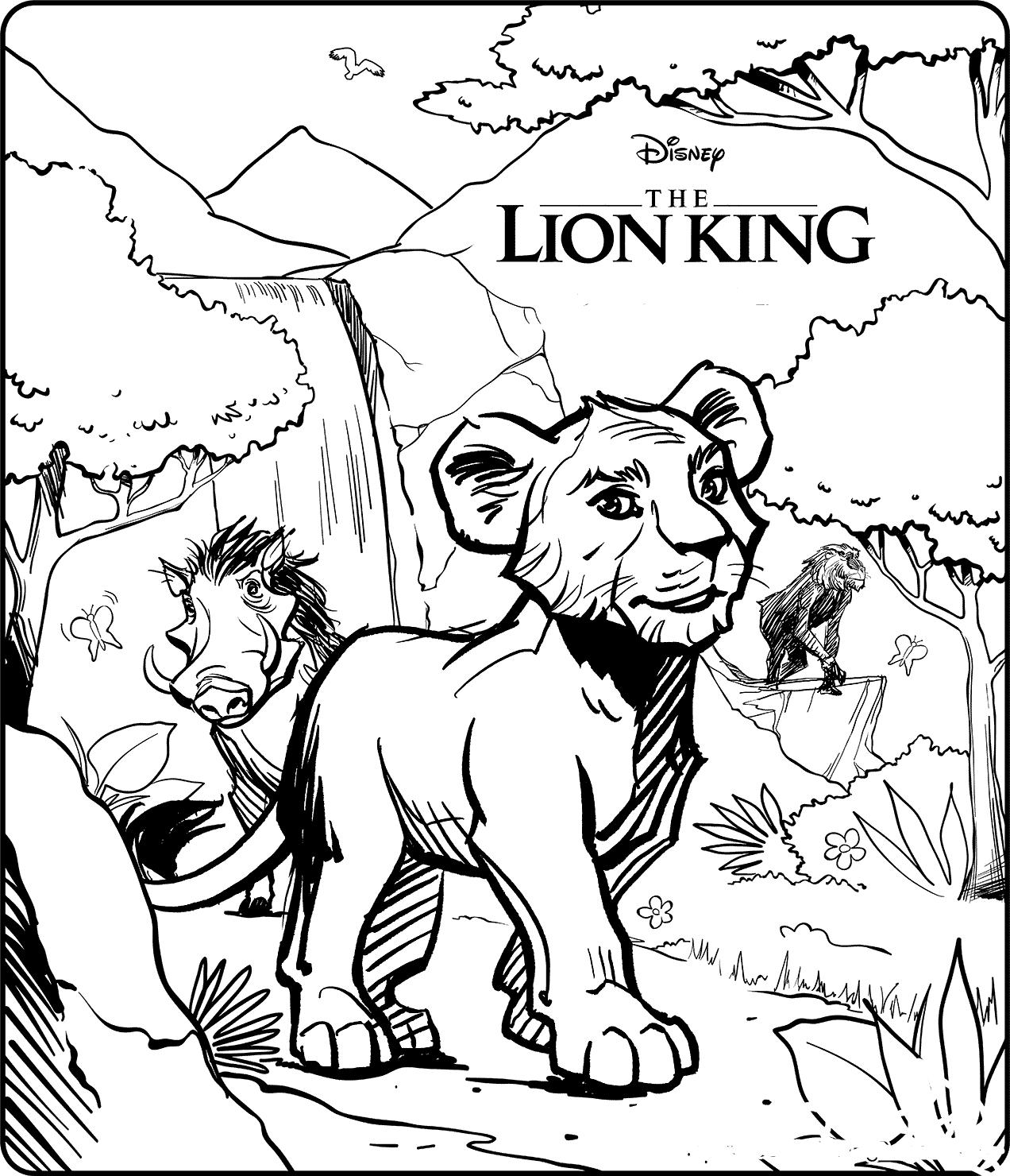 Desenhos de O Rei Leão para Colorir
