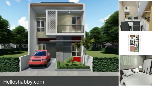 Desain Dan Denah Rumah Minimalis 6 X 12 M Dengan 4 Kamar Tidur Dan Eksterior Yang Cantik Helloshabby Com Interior And Exterior Solutions