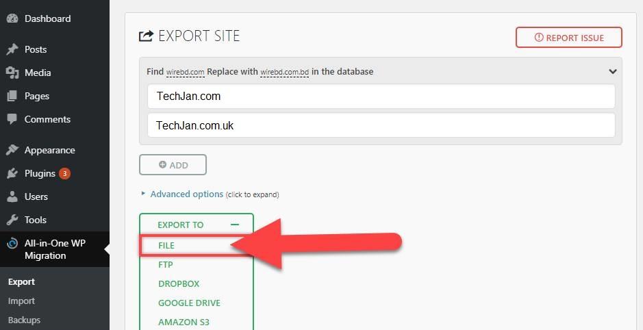 Export Your Website