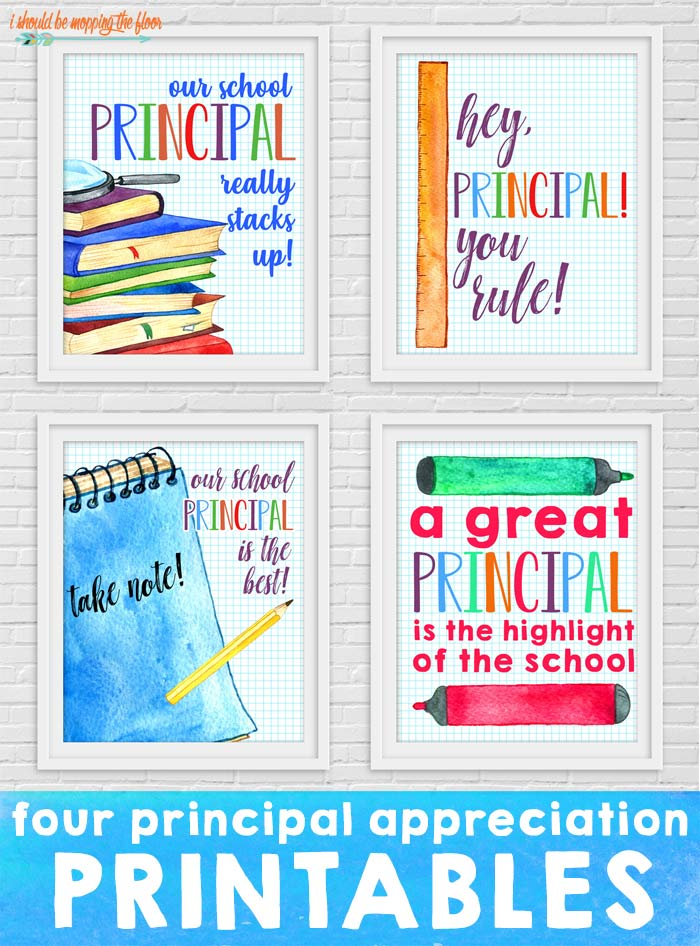 Four Principal Appreciation Printables